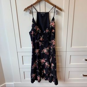 Floral Mini Dress with Ruffles